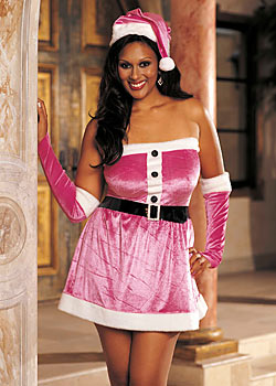 Sexy Santa Pink Chemise with hat, gloves and dress. $39 shipped