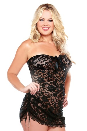 We are loving this little lacey teddy at Curvy Girl Lingerie