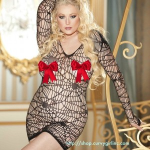 Plus Size Fishnet Dress for Curvy Girls