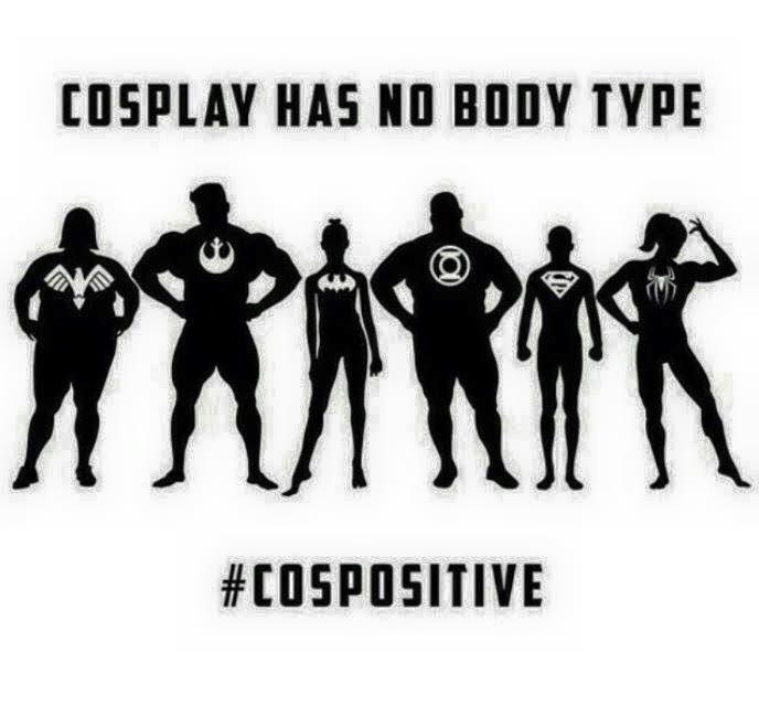 cosplay has no body size