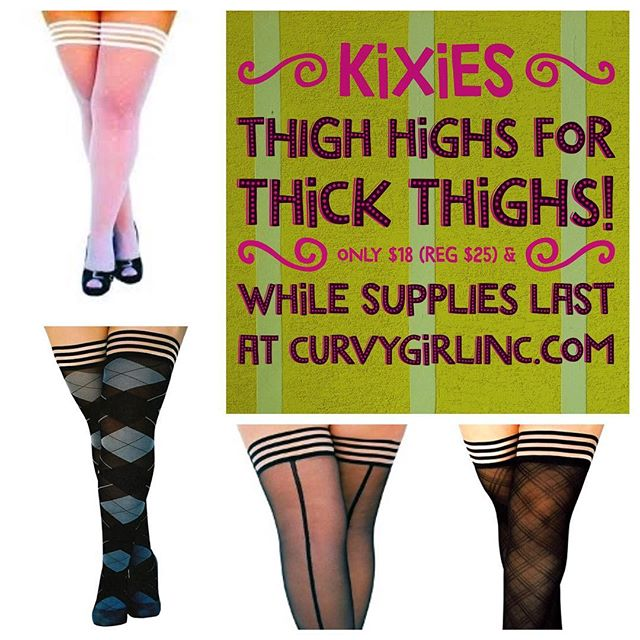 Stockings for Fat Thighs! Yes, They Work. Go Kixies!